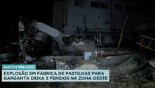 Explosão em fábrica deixa cinco feridos na zona oeste do Rio