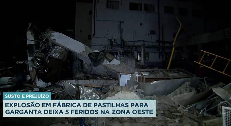 Explosão de fábrica na Gardênia Azul deixa cinco feridos