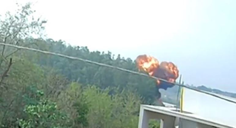 Explosão da aeronave em Piracicaba
