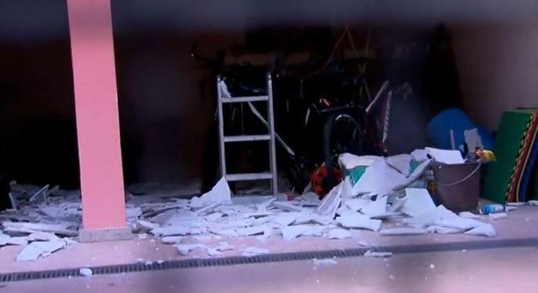 Explosão pode ter sido provocada pelo sistema de aquecimento de água do imóvel