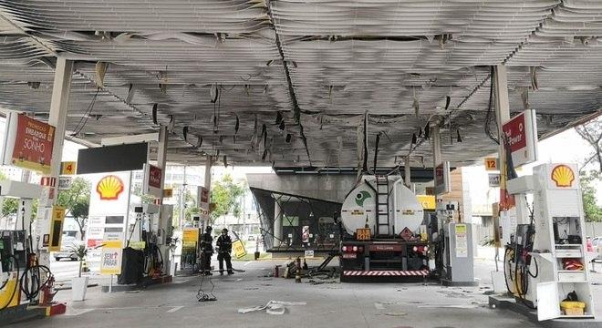Explosão ocorreu em posto de gasolina no Belém
