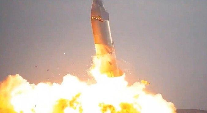 O Starship explodiu após pousar na base de Boca Chica, no Texas