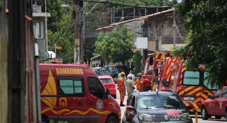 A explosão feriu três pessoas que foram levadas ao hospital e estão estáveis