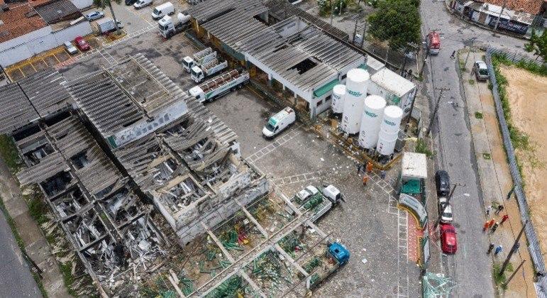 Explosão em fábrica de oxigênio em Fortaleza