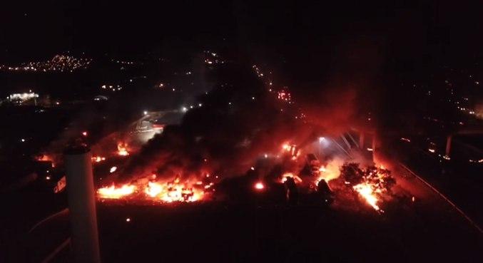 Impacto da explosão no posto de combustíveis foi sentida a cerca de 10 km