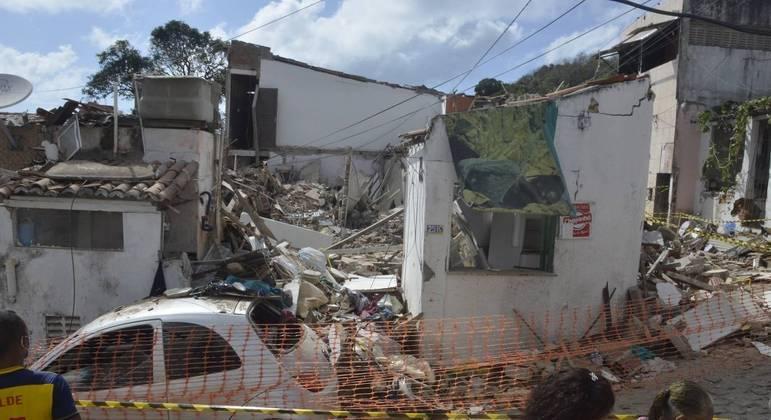 Explosão provocou quatro mortes e derrubou casas em Natal (RN)