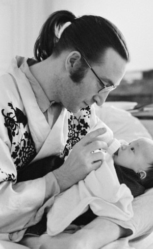 Lennon e o bebê Sean