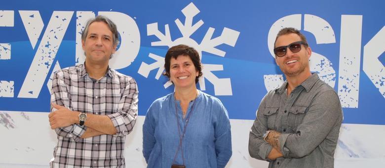 Felipe Machado, Adriana Boischio e Fernando Navarro na Expo Ski 2019