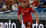 15ªSuíça: Fabian Frei (32 anos) – Clube: FC Basel – Posição: Volante – Valor: € 500mil.