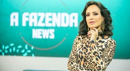 Fabiana Oliveira apresenta o 'Fazenda News'