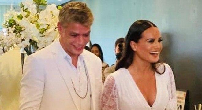 Fábio Assunção e Ana Verena se casaram neste ano.