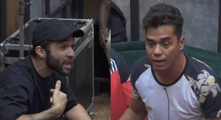 Fabio e Jonjon se desentendem no camarim da Mansão Power