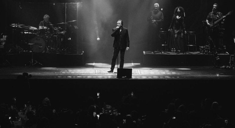 Fábio Jr. subiu ao palco no último dia 24 de julho com um público reduzido