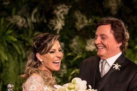 Fábio Júnior e Maria Pascucci comemoram 4 anos de casamento