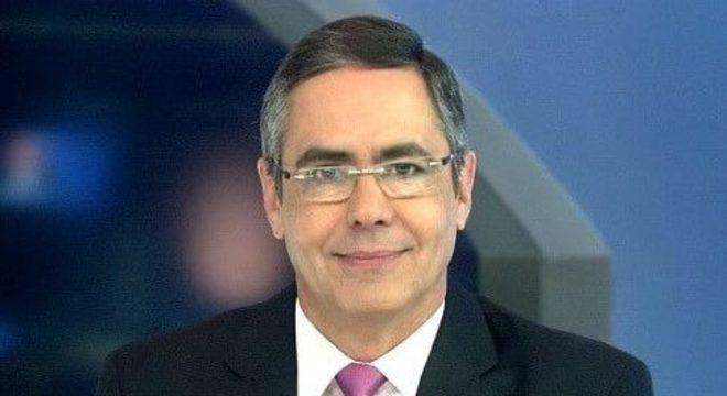 O apresentador Fábio Pannunzio, do Jornal da Noite