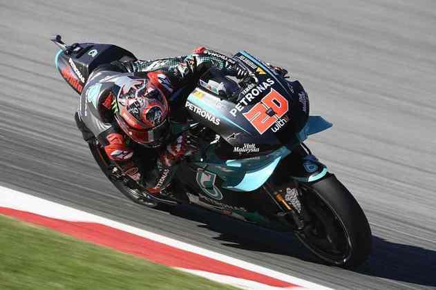 Fabio Quartararo ocupou a sexta colocação da tabela de tempos
