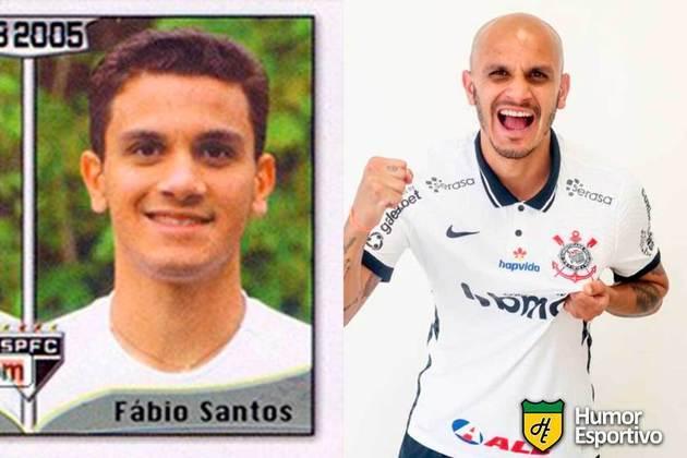 Fábio Santos jogou pelo São Paulo em 2005. Inicia o Brasileirão 2021 com 35 anos e jogando pelo Corinthians.