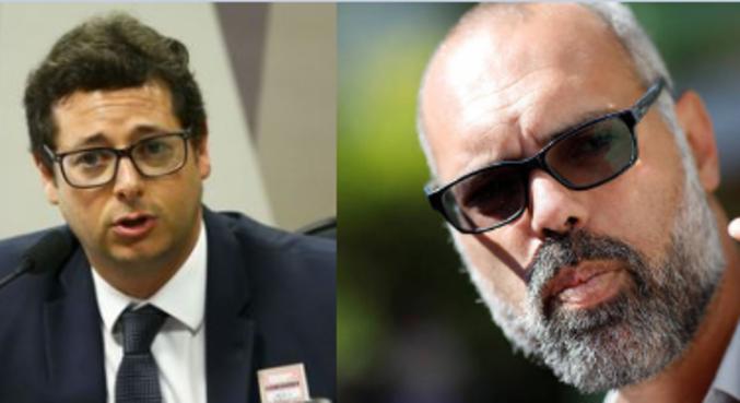 O ex-secretário Fábio Wajngarten e o blogueiro Allan dos Santos