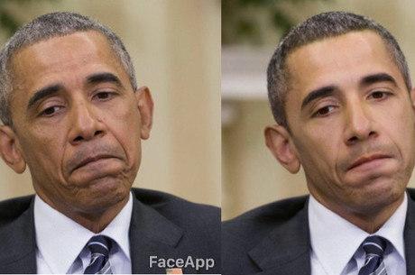 Barack Obama ficou mais branco com o filtro do FaceApp