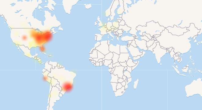 Brasil e EUA são os dois países mais afetados pela instabilidade do Facebook