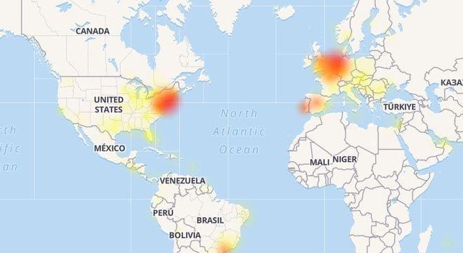 Site Down Detector teve um pico de reclamações nesta terça-feira (20)