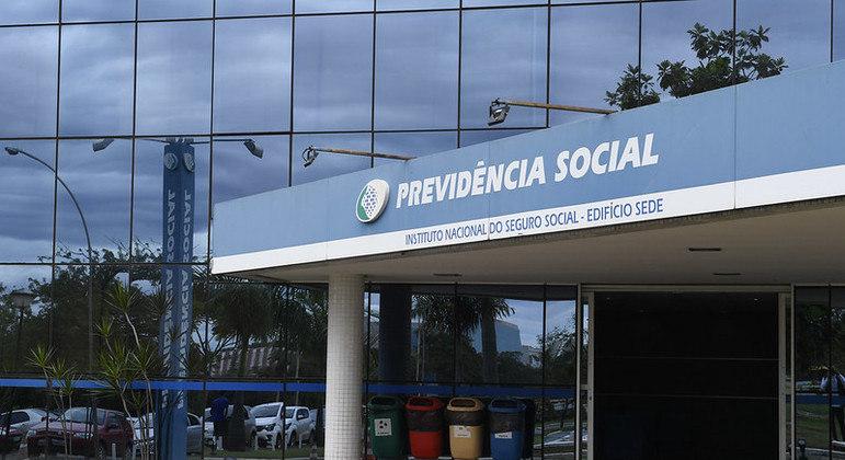 Fachada do Edifício Sede do Instituto Nacional do Seguro Social - Previdência Social