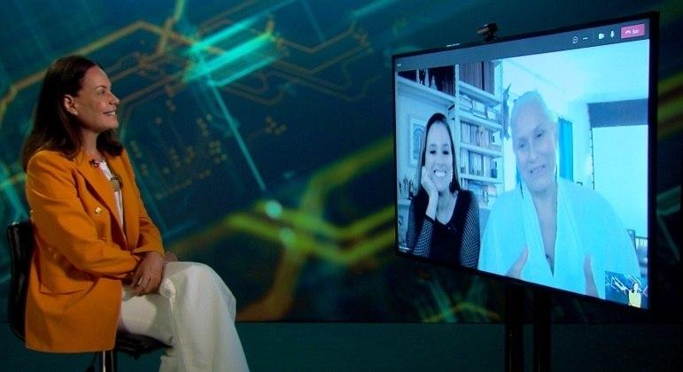 Fafá de Belém e a filha, Mariana Belém, conversam com Carolina Ferraz