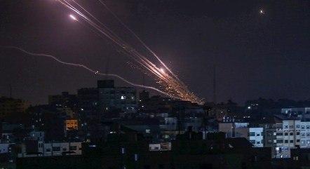 Mísseis partem de Gaza rumo ao território israelense