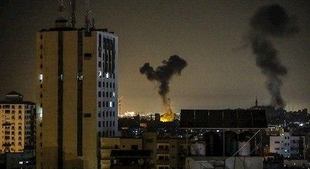 Alvo é atingido na Faixa de Gaza