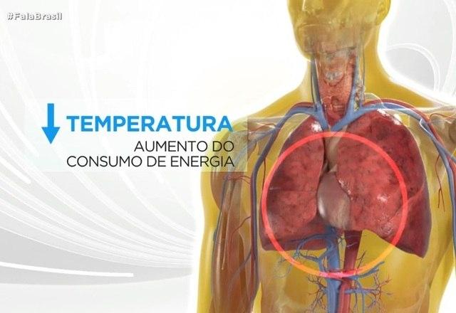 Quando a temperatura diminui de uma hora para outra, o coração bate mais rápido e aumenta o consumo de energia
