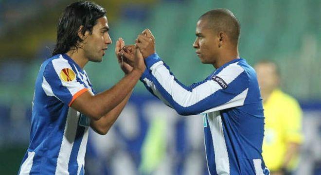 Magro, com Falcão Garcia, no Porto. Se deixou levar pelas guloseimas