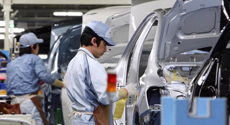 Toyota parou produção no Japão