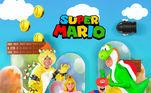 Para este ano, o tema escolhido foi o jogo Super Mario. Adelaide queria ser aprincesa Peach, então os pais se encarregaram de entrar de cabeça na brincadeira