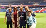 Família Neymar, PSG