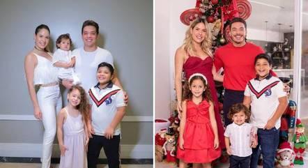 À esquerda, foto de 2019; à direita, foto de 2020