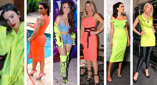 1a9560c0a De Cleo a Hickmann: Qual famosa ficou mais estilosa de neon? - R7 ...
