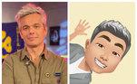 O apresentador Otaviano Costa também se divertiu ao criar o próprio avatar