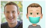 É claro que o fundador do Facebook, Mark Zuckerberg, não poderia ficar de fora. Ele optou por colocar uma máscara no desenho ele, para reforçar a importância de usar o acessório de proteção contra a covid-19