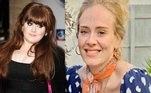 3. AdeleA cantora Adele parece outra pessoa após ter perdido 45 kg. Nas redes sociais, ela chegou a ser comparada pelos brasileiros com a apresentadora Angélica