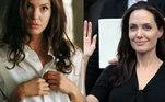 4. Angelina JolieOutra atriz que nem sempre chama uma atenção positiva por conta de sua magreza é Angelina Jolie. Segundo o Radar Online, o processo de divórcio do ator Brad Pitt teria feito com que ela chegasse aos 34 kg