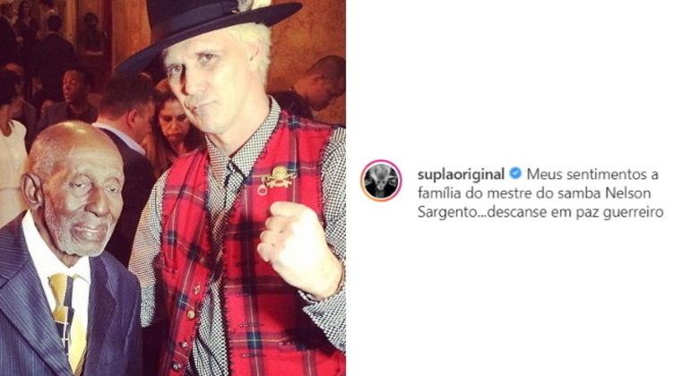 O cantor Supla publicou uma imagem com Nelson: