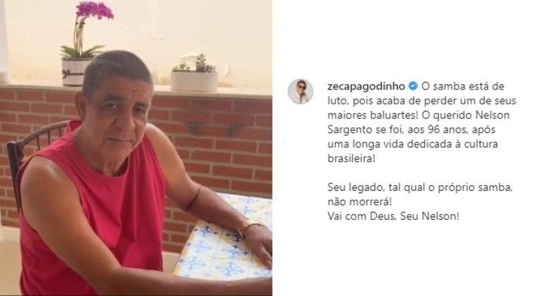 O cantor Zeca Pagodinho publicou um vídeo em seu Instagram: