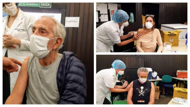 Paulo José, de 84 anos, Zé Ramalho, de 71, e Mila Moreira, também 71, foram vacinados contra acovid-19no dia 26 de abril. Os três artistas foram ao mesmo posto de vacinação, montado no Planetário da Gávea, no Rio de Janeiro
