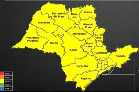 Todo o estado de São Paulo passa para a fase amarela