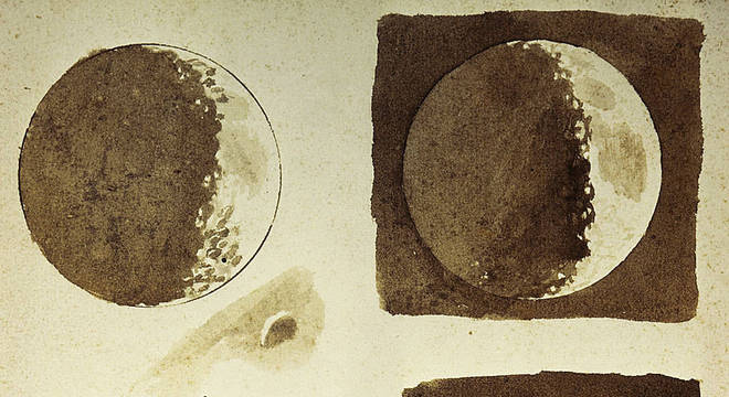 Tudo o que Galileu viu, ele desenhou, como essas fases da Lua