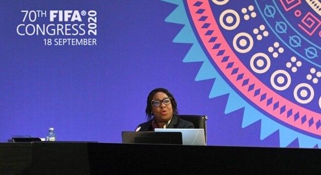Fatma Samoura, a secretária-geral da FIFA, talvez a sucessora de Infantino