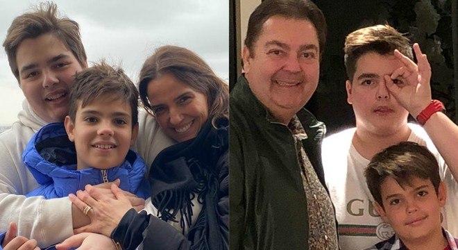 Família viajou a Paris após algumas semanas na Suíça
