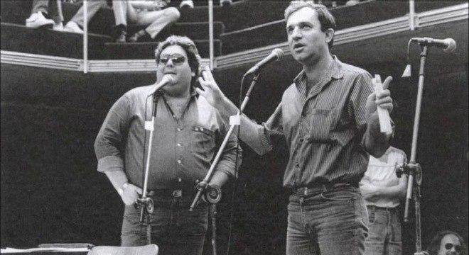 Fausto Silva e Osmar Santos. Dupla que marcou a rádio de São Paulo