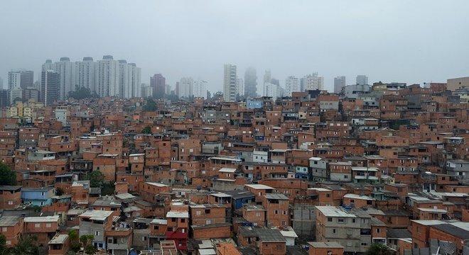 Paraisópolis, segunda maior favela de São Paulo, é vizinha do bairro do Morumbi, na zona oeste de São Paulo