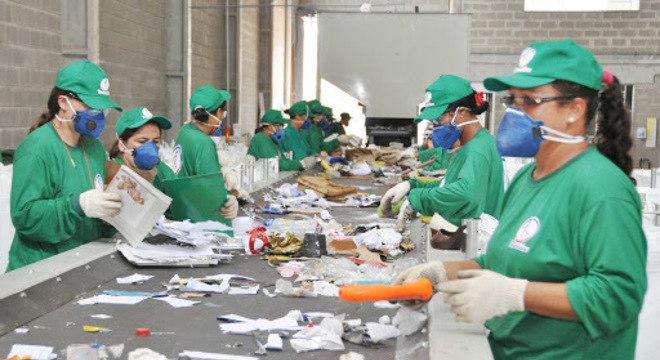 Fazendo a reciclagem